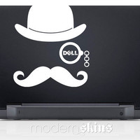 Laptop Mustache and Monocle - Dell