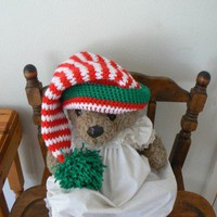 Hand Crocheted Baby Christmas Elf Hat