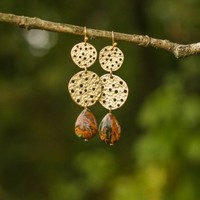 Peace In The Valley Earrings-Cocoa