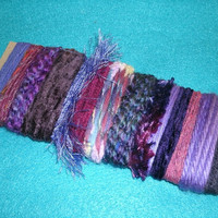 28 Yards Purple Novelty Yarn Bundle