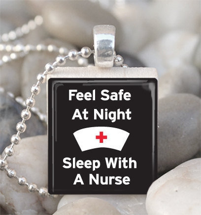Scrabble Tile Pendant Nurse Pendant Nurse Necklace With Silver Ball Chain (A616)