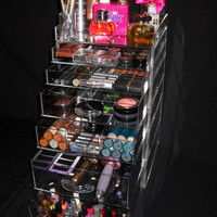 Clear Acrylic Makeup Organizer Cube with 5 Drawers