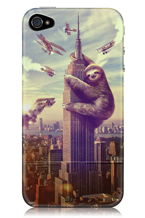 Slothzilla iPhone Case