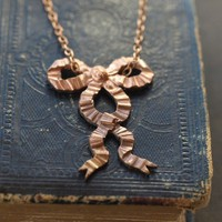 Ruffled Bow Necklace