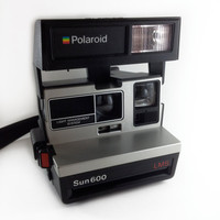 Vintage Polaroid Sun 600 LMS Instant Camera, Works
