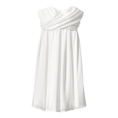 Women's Strapless Wrap-Front Chiffon Dress - Core Colors