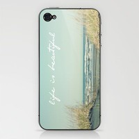 Life is Beautiful iPhone &amp; iPod Skin by simplyhue | Society6