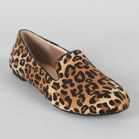 Gator-4 Leopard Round Toe Loafer Flat