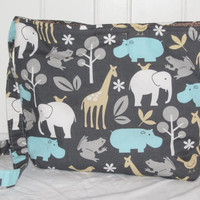 On the Go Travel Diaper Bag - Zoology Print