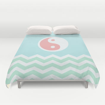 Sun Moon Lake Duvet Cover by BeautifulHomes