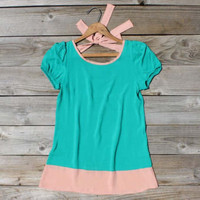 Tied Mint Blouse, Sweet Bohemian Clothing