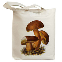 Mushroom 17 Vintage Eco Friendly Canvas Tote Bag (ixp017)