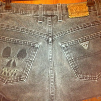 Extra 25% off SEMI-Annual SALE Skull Cut out Studded distressed High waisted Shorts