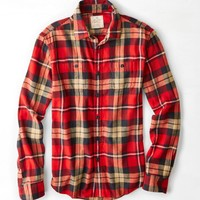 AEO Heritage Flannel, Red | American Eagle Outfitters