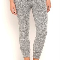Mixed French Terry Jogger Pants with Drawstring