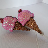 Cherry Ice cream Cone Earbuds