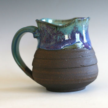Coffee Mug with an Uneven Rim, handmade ceramic cup, tea cup, coffee cup