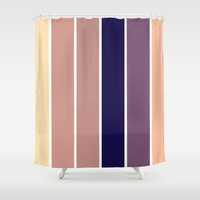Subtle Stripes Shower Curtain by 2sweet4words Designs | Society6
