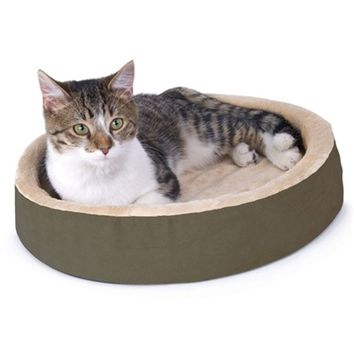 SheilaShrubs.com: Thermo Kitty Cuddle Up Mocha KH3701 by K&H Manufacturing : Pet Beds & Mats