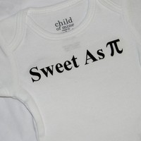 Sweet As Pi Baby Bodysuit. Math Geek Baby. from Evangelina's Closet