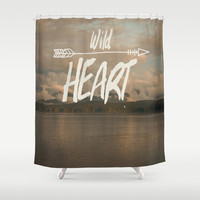 Wild Heart Shower Curtain by The Dreamery