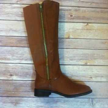 """Simple Cognac"" Riding Boot"