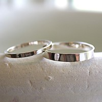 Wedding Bands- Set of 18K White Gold Rings