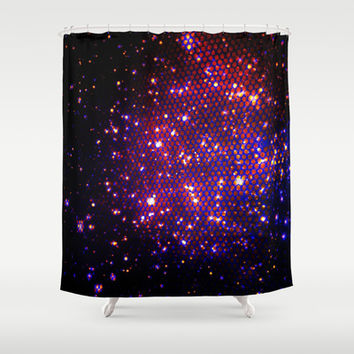 through the wire netting Shower Curtain by clemm