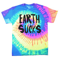 EARTH SUCKS Tie Dye T-Shirt (Select Size)