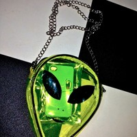 SWEET LORD O'MIGHTY! ALIEN SLING IN SEE THROUGH YELLOW