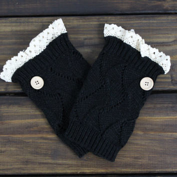 Women's Knit Boot Cuffs, Lace Boot Cuffs, Women's Knitted Boot Toppers, Socks, Button Boot cuffs, Open Knit Boot Socks, Knitted Leg Warmers