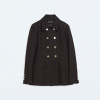Double-breasted short coat