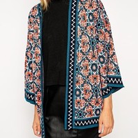 ASOS Floral Cardigan with Kimono Sleeve at asos.com