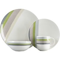 Finn 16-Piece Dinnerware Set: four each of dinner plate, salad plate, bowl and mug.