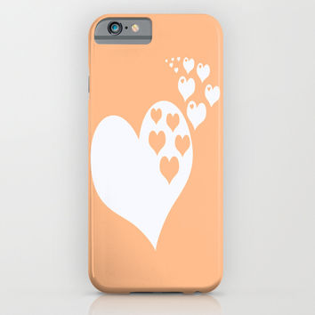 Peach Orange Hearts of Love iPhone & iPod Case by BeautifulHomes