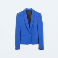 Blazer with gathered shoulders