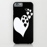 Black & White Hearts of Love iPhone & iPod Case by BeautifulHomes
