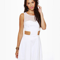 Cute White Dress - Tank Dress - Backless Dress - $43.00