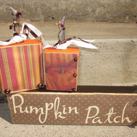 Pumpkin Patch wooden block sayings for the home and holidays Fall autumn decor september and october