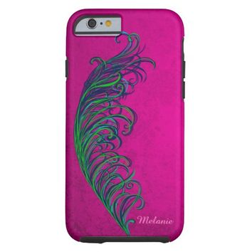 Bright Abstract Peacock Feather iPhone 6 Case