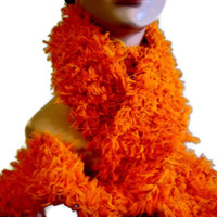 Knit Scarf Long Orange