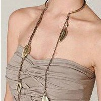 Leaf Streams Statement Necklace  | LilyFair Jewelry