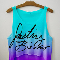 Bieber Signature Tie Dye Crop Top | fresh-tops.com