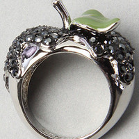 The Apple Metal Ring in Black by Disney Couture Jewelry | Karmaloop.com - Global Concrete Culture