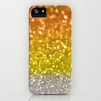 Candy Corn Bokeh iPhone & iPod Case by Lisa Argyropoulos