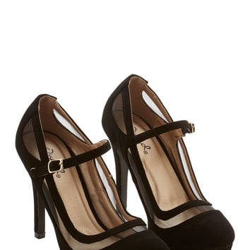 Soiree It Again Heel in Black  Mod Retro Vintage Heels
