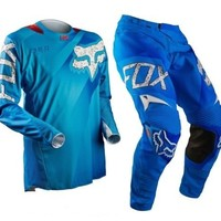 2015 Fox 360 Flight Blue MX Motocross Gear Kit enduro cr kx yz rm ktm sx sxf crf