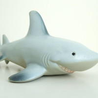 Great White Shark - Vintage Rubber Toy