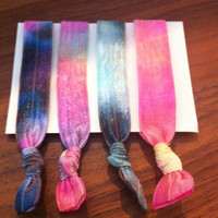 4 Tie Dye Elastic Hair Ties (and bracelets)