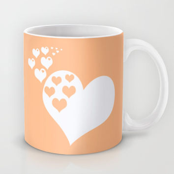Peach Orange Hearts of Love Mug by BeautifulHomes